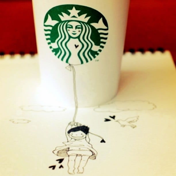 Illustration : Les Doodles Starbucks de Tokomo 31