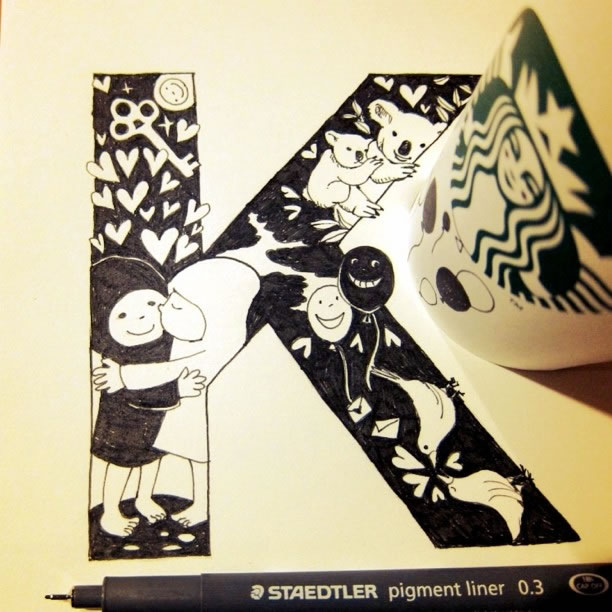 Illustration : Les Doodles Starbucks de Tokomo 32