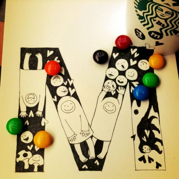 Illustration : Les Doodles Starbucks de Tokomo 33