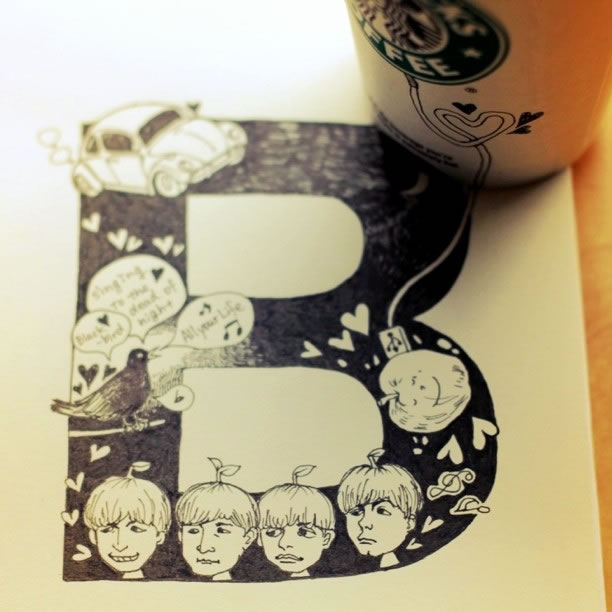 Illustration : Les Doodles Starbucks de Tokomo 35