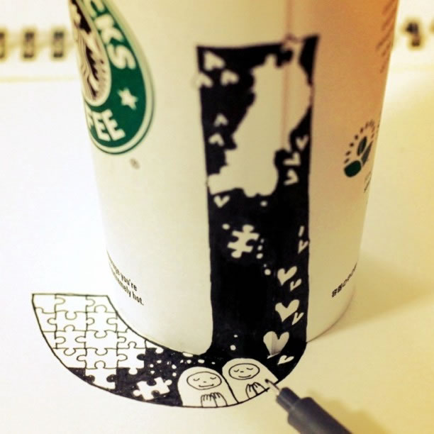 Illustration : Les Doodles Starbucks de Tokomo 36