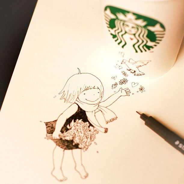 Illustration : Les Doodles Starbucks de Tokomo 2