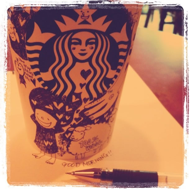 Illustration : Les Doodles Starbucks de Tokomo 21