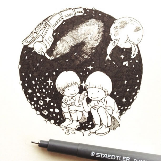 Illustration : Les Doodles Starbucks de Tokomo 7