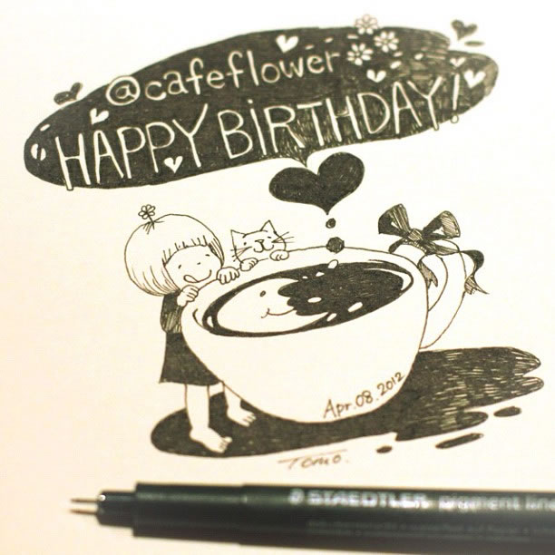 Illustration : Les Doodles Starbucks de Tokomo 8