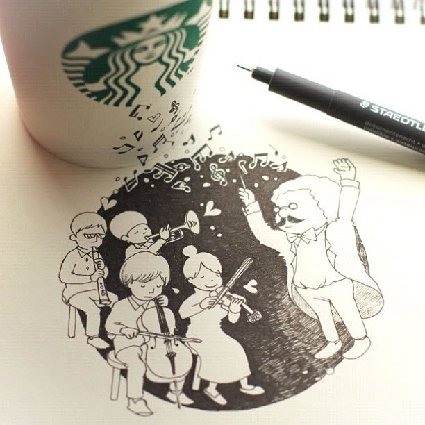 Illustration : Les Doodles Starbucks de Tokomo 10