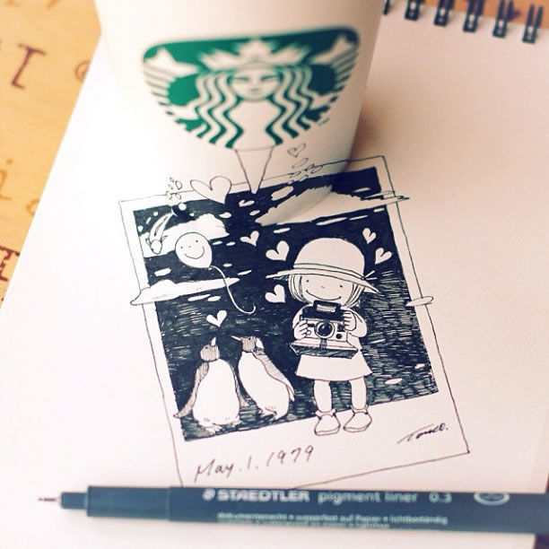 Illustration : Les Doodles Starbucks de Tokomo 15