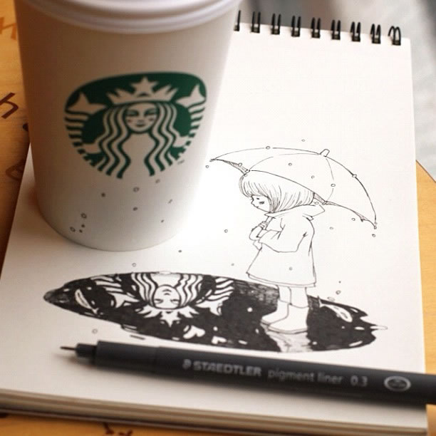 Illustration : Les Doodles Starbucks de Tokomo 16