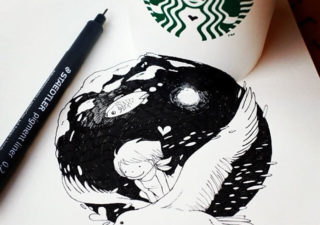Illustration : Les Doodles Starbucks de Tokomo 1