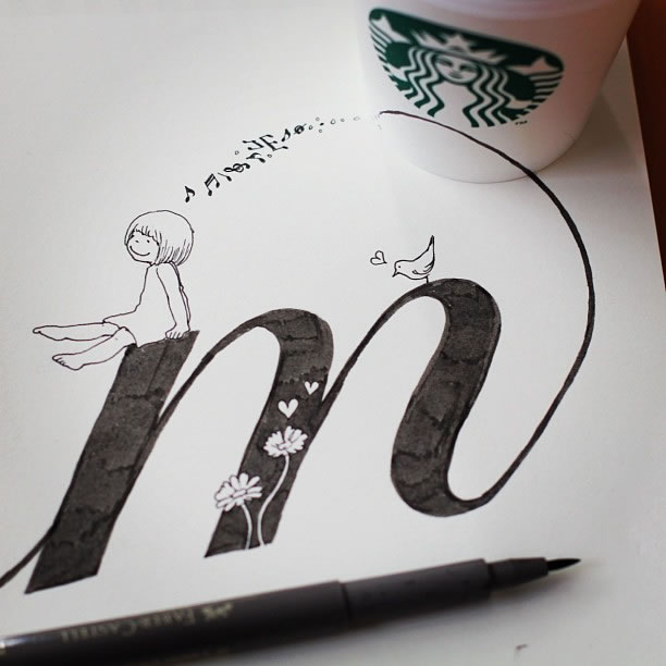 Illustration : Les Doodles Starbucks de Tokomo 18