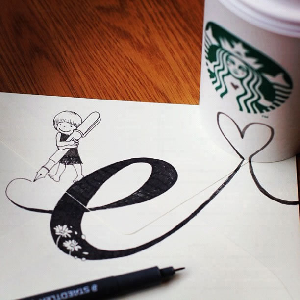 Illustration : Les Doodles Starbucks de Tokomo 19