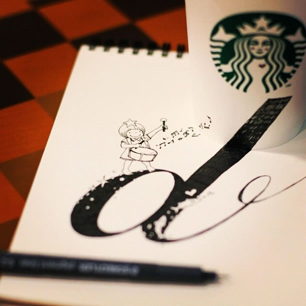 Illustration : Les Doodles Starbucks de Tokomo 20