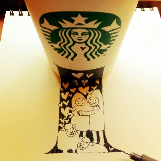 Illustration : Les Doodles Starbucks de Tokomo 24