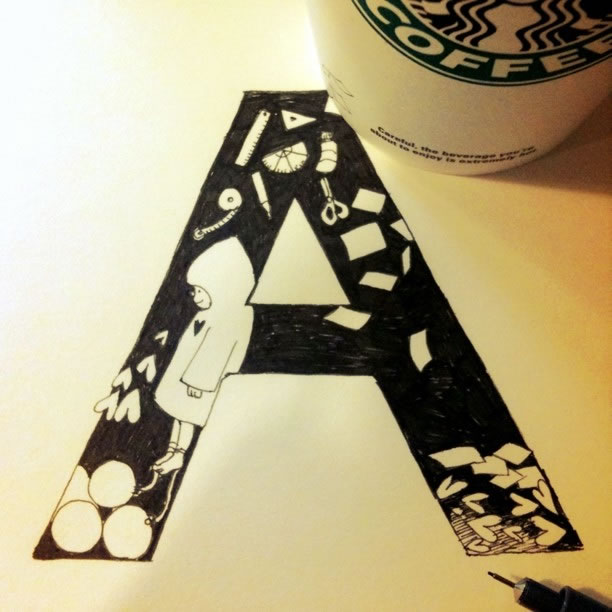Illustration : Les Doodles Starbucks de Tokomo 25