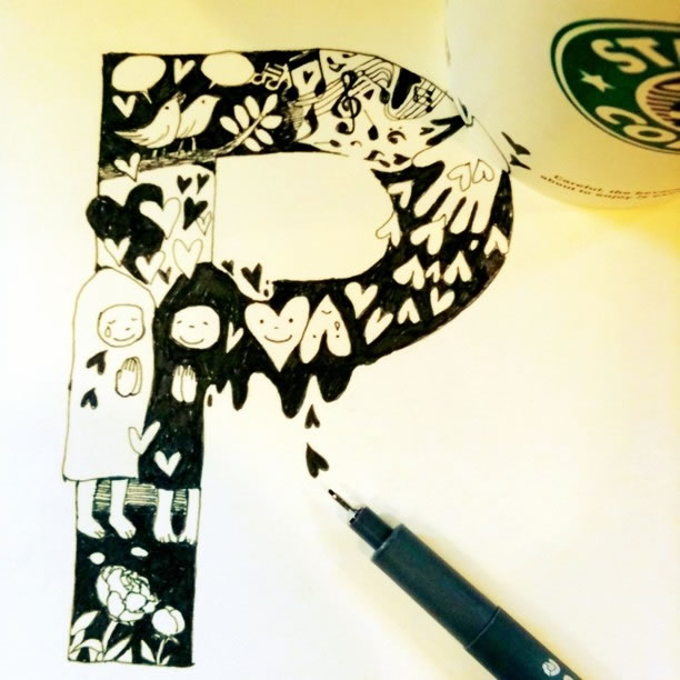 Illustration : Les Doodles Starbucks de Tokomo 26
