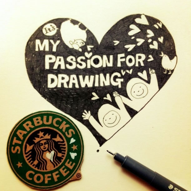 Illustration : Les Doodles Starbucks de Tokomo 27