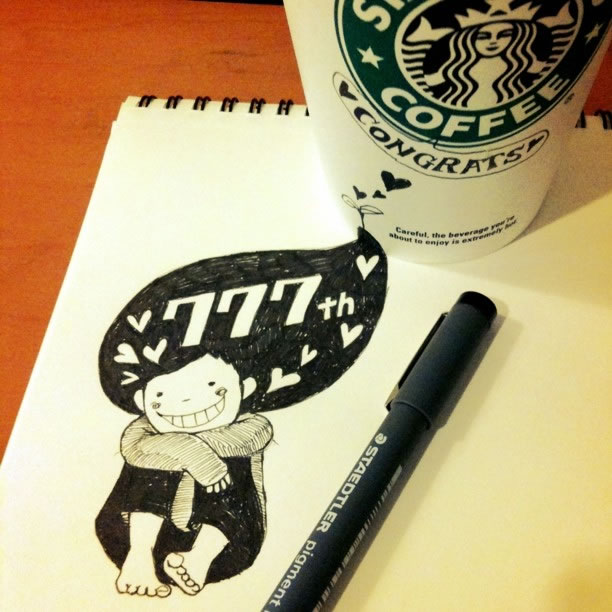 Illustration : Les Doodles Starbucks de Tokomo 28