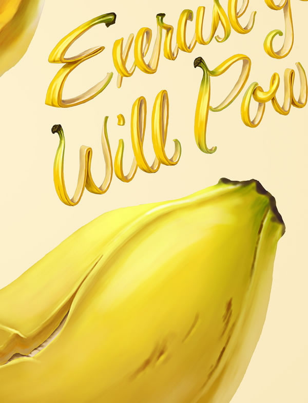 Illustrations : banane, frite et maïs par Oscar Ramos 10