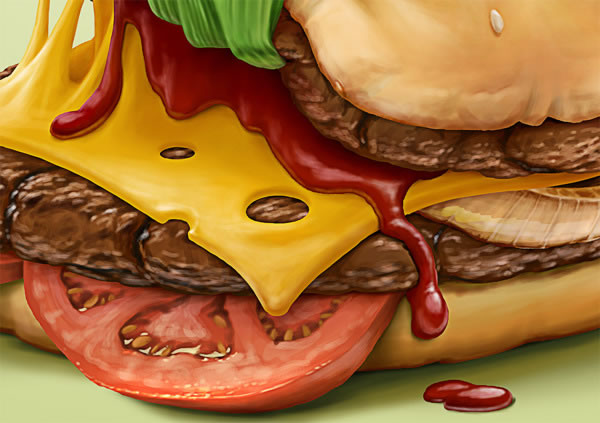 Illustrations : banane, frite et maïs par Oscar Ramos 4
