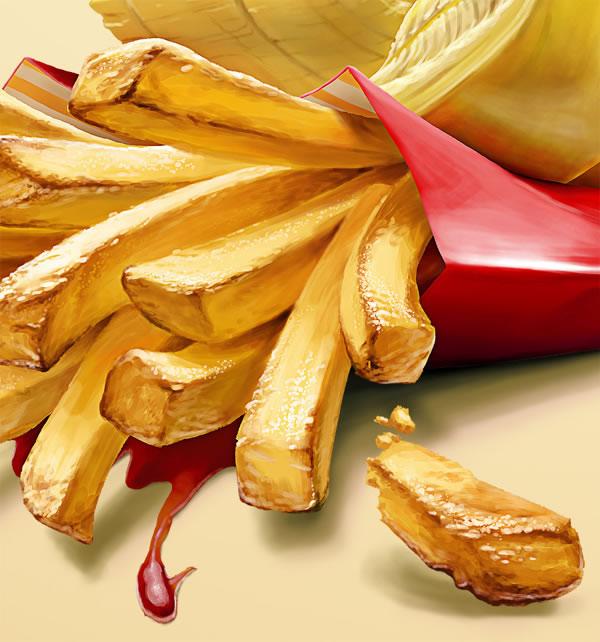 Illustrations : banane, frite et maïs par Oscar Ramos 5