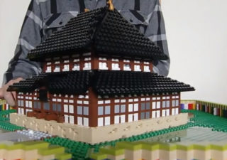 Créativité: le Temple Todaiji en Popup Lego