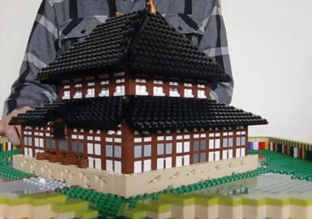 Créativité: le Temple Todaiji en Popup Lego 12