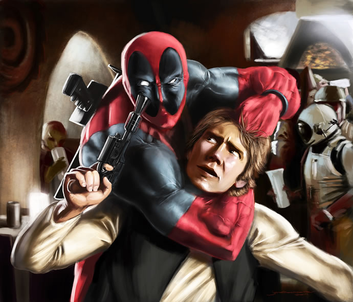 Illustration : StarWars et Marvel se rencontrent 3