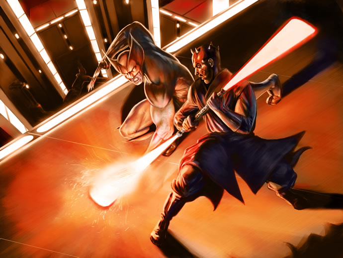 Illustration : StarWars et Marvel se rencontrent 4