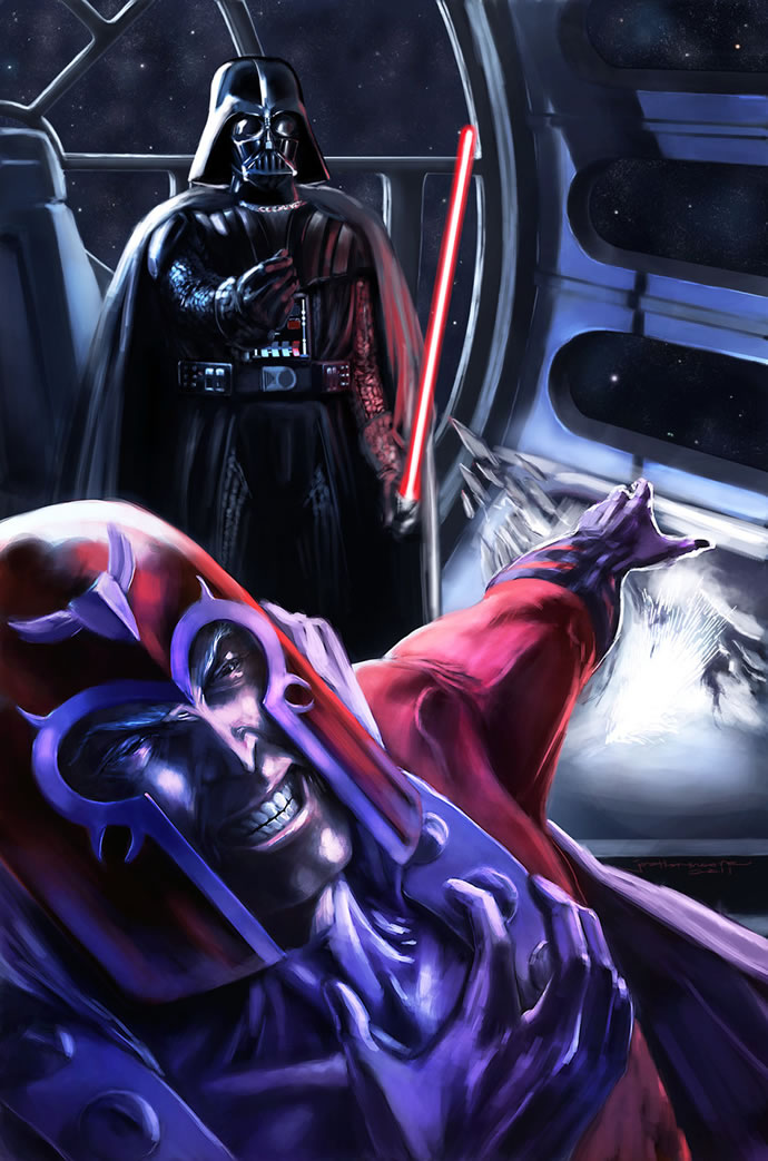 Illustration : StarWars et Marvel se rencontrent 6