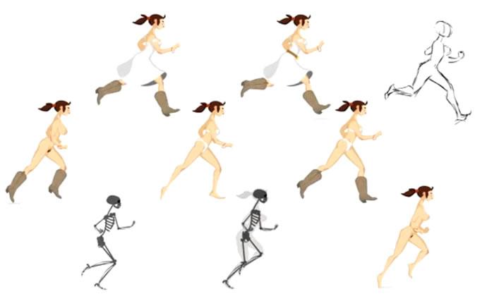walks and runs