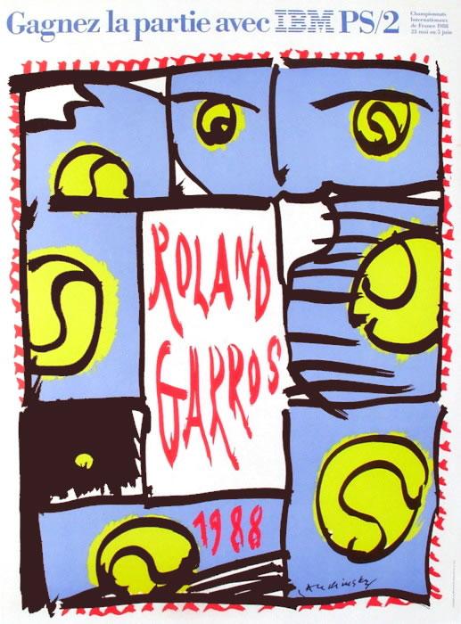 Graphisme : Toutes les affiches de Roland-Garros depuis 1980 25