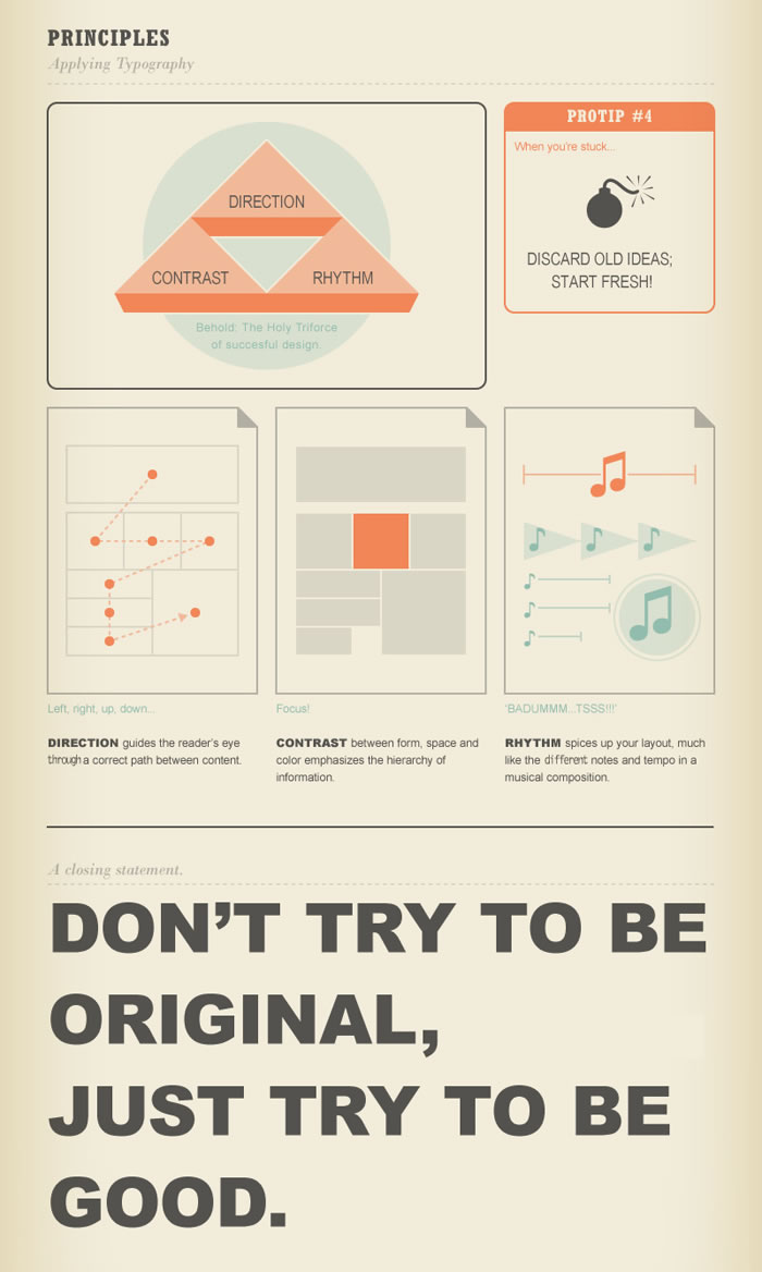 Infographie  Guide Typographie