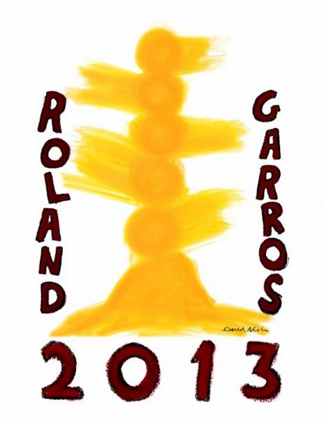 Graphisme : La nouvelle affiche curieuse de Roland-Garros 2013 par David Nash 2