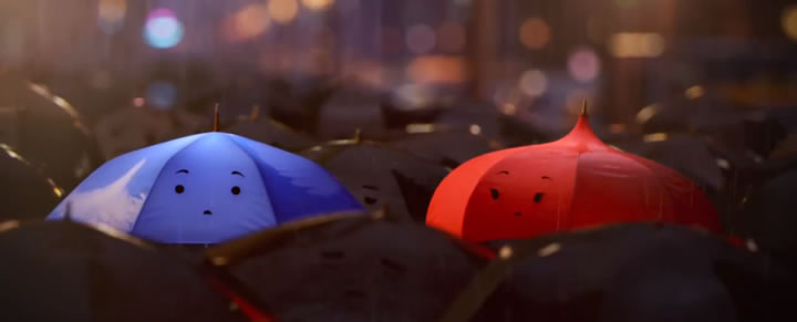 court metrage pixar the blue umbrella