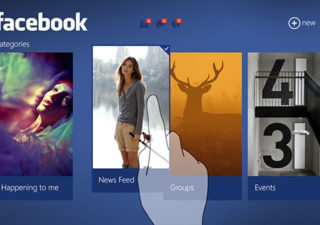 Concept UI : Facebook sur Windows 8 1