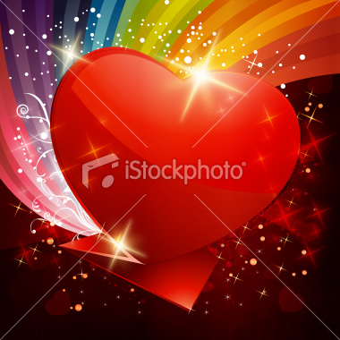 stock-illustration-22766121-glossy-shiny-origami-heart-with-colorful-grunge-background