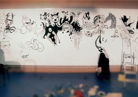 Timelapse : Fresque à 8 mains pour les 20 ans d'Adobe Photoshop 9