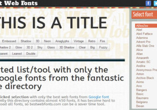 Typographie : Best-of des Google Fonts