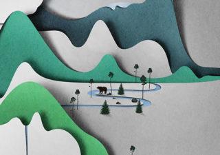 Paper Art : Vertical Landscape d'Eiko Ujala