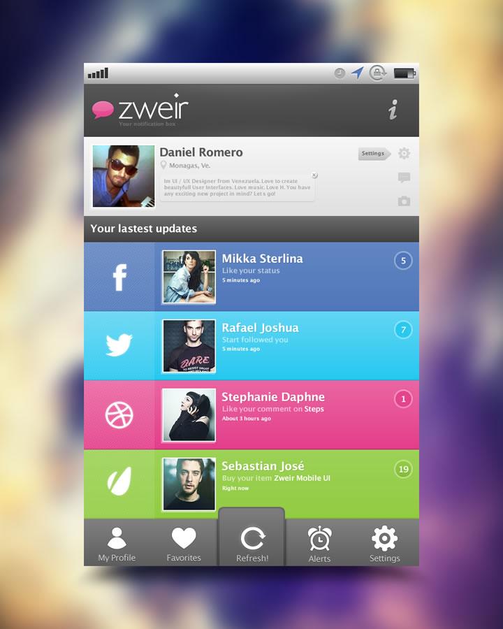 flat design appli 2