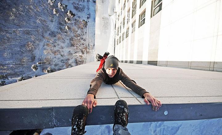 Daredevil suspendu immeubles (3)