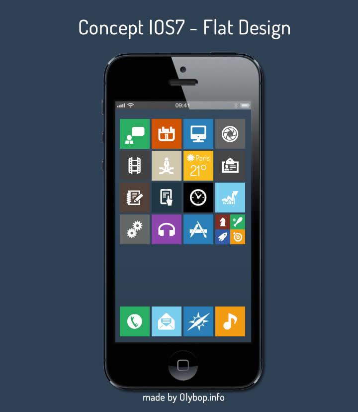 ios7 - flat design