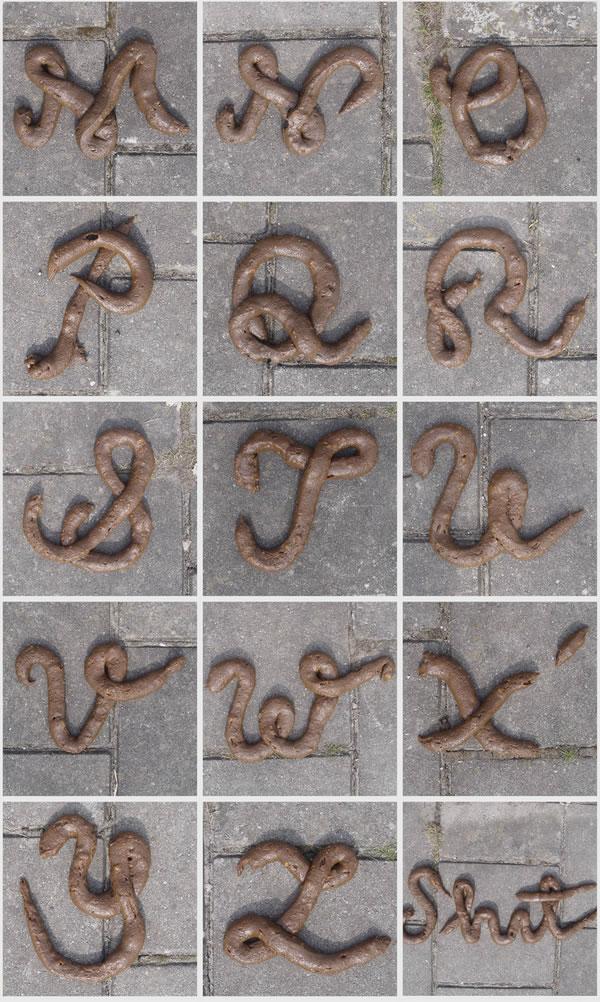typographie de merde