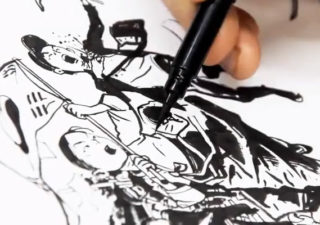 Timelapse : Superbe illustration de Kim Jung Gi