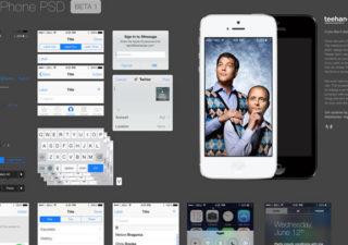 Ressources : PSD iOS 7 UI  gratuit