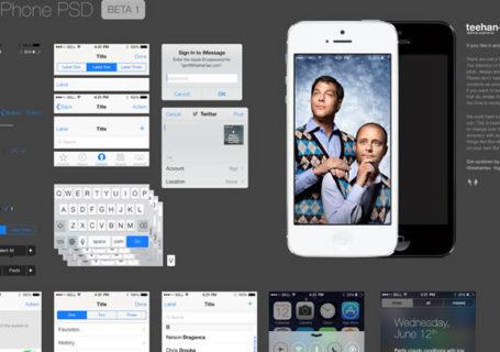 Ressources : PSD iOS 7 UI  gratuit  9