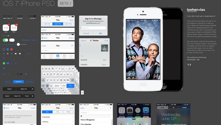 PSD gratuit iOS 7
