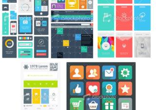 500 ressources vectorielles Webui en FLAT DESIGN gratuites