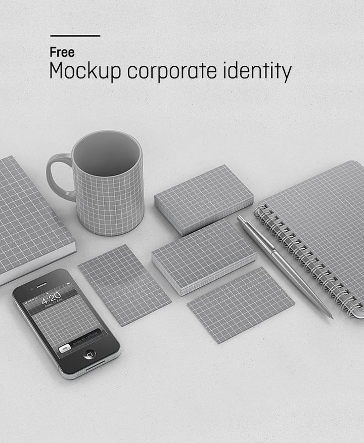 Ressources  Mockup gratuit pour identités corporates