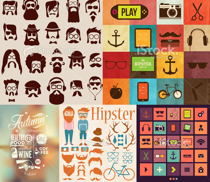 vector hipster free